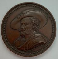 Medaille Bronze. F. Hart. Anvers Monument Rubens 1840 Anwerpen Rubensmonument. 45mm - Professionnels / De Société