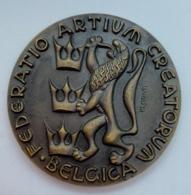 Medaille. H. Elstrom. Congrès International Des Métiers Et Enseignements D'art 1958. - Professionnels / De Société