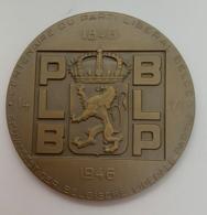 Medaille. Marcel Rau. Centenaire Du Parti Liberal PLB. 1846-1946. 60mm. Avec écrin. - Professionnels / De Société