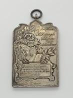 Medaille Bronze Argenté. Toneelmaatschappij De Kunstvrienden 1874. Wederlandse Toneelwedstrijd 1899. 60 X 38 Mm - Professionnels / De Société