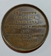 Medaille Bronze. De Weduwe Leonardus Franciscus De Bruyn-Van Zuylen Aan Wilhelmina Van Zuylen. 10 Juli 1822-1872. 30mm - Professionnels / De Société