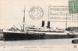 """CARTE PAQUEBOT  """"LE PEROU """" SAINT NAZAIRE - ANNEE 1921 - Paquebots"""