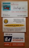 3 TARJETAS DE VISITA COCHES - CARS. TALLER - DESGUACE - ITV. - Tarjetas De Visita