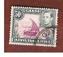 KENYA, UGANDA & TANGANYIKA  - SG 144 -  1938 DHOW ON LAKE VICTORIA   -USED° - Kenya, Uganda & Tanganyika