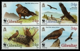 Gibraltar 1994 - Mi-Nr. 774-777 ** - MNH - Vögel / Birds - Gibraltar