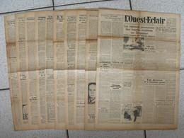 """10 Journaux """"L'Ouest-Eclair"""". 1942. Guerre. France Occupée. Articles Pro-allemand. Japon USA Russie (2) - Journaux - Quotidiens"""