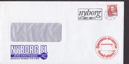 Denmark NYBORG EL Jens Kristensen Nymarksvej Slogan 'Hele Landets Mødested' NYBORG 1983 Cover Brief SIEMENS Cachet - Briefe U. Dokumente
