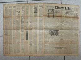 """10 Journaux """"L'Ouest-Eclair"""". 1942. Guerre. France Occupée. Articles Pro-allemand. Japon USA Russie (3) - Journaux - Quotidiens"""