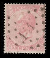 COB 20 - Obl. Losange De Points - Bureau N° 141 (GAND) - 1865-1866 Linksprofil