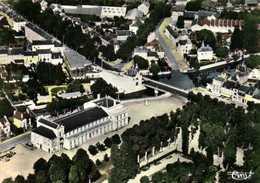 CPSM Grand Format  MONTARGIS (Loiret) 238 79 La Salle Des Fetes Vue Aérienne Colorisée  RV Edit  Combier - Montargis