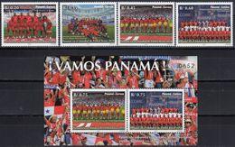 Panama 2019 World Cup FIFA 2018 In Russia Football 4v + SS MNH - Panama