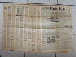 """10 Journaux """"L'Ouest-Eclair"""". 1942. Guerre. France Occupée. Articles Pro-allemand. Japon USA Russie (5) - Journaux - Quotidiens"""