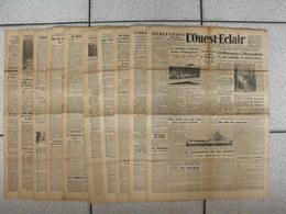 """10 Journaux """"L'Ouest-Eclair"""". 1942. Guerre. France Occupée. Articles Pro-allemand. Japon USA Russie (6) - Kranten"""