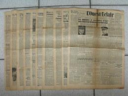 """10 Journaux """"L'Ouest-Eclair"""". 1942. Guerre. France Occupée. Articles Pro-allemand. Japon USA Russie (8) - Journaux - Quotidiens"""
