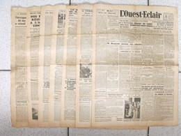 """7 Journaux """"L'Ouest-Eclair"""". 1942. Guerre. France Occupée. Articles Pro-allemand. Japon USA Russie (9) - Journaux - Quotidiens"""