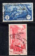 APR2216 - LIBIA 1937 ,  Posta Aerea Sassone N. 28/29  Usata (2380A) . - Libia