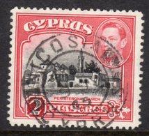 CYPRUS - 1938-1951 1942 TWO PIASTRE KGVI FINE USED NICOSIA SG 155b REF B7 - Cyprus (...-1960)