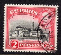 CYPRUS - 1938-1951 1942 TWO PIASTRE KGVI FINE USED SG 155b REF B9 - Cyprus (...-1960)