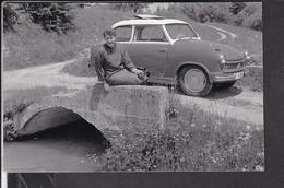 Foto Postkarte Lloyd 600 ?  1964 Bahnpoststempel - Voitures De Tourisme
