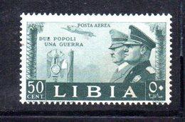 APR2224 - LIBIA 1940 ,  Posta Aerea Sassone N. 45  ***  (2380A) . Mussolini Hitler - Libye