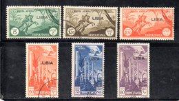 APR2227 - LIBIA 1940 ,  Posta Aerea Sassone N. 46/51  Usato Favore (2380A) . - Libye