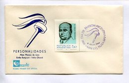DR. EMILIO RAVIGNANI, PERSONALIDADES, PERSONNALITÉS. 1986 MAR DEL PLATA ARGENTINE ENVELOPE FDC SOBRE PRIMER DIA -LILHU - Celebridades