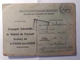 Saint Pierre Des Corps (37) Courriers Des Prisonniers De Guerre 39 45 (KRIEGSGEFANGENENPOST) - Historische Dokumente