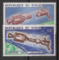 Tchad - 1975 - Poste Aérienne PA N°Yv. 157 à 158 - Coopération Spatiale - Neuf Luxe ** / MNH / Postfrisch - Afrika