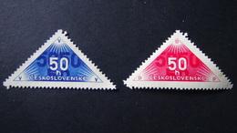 Czechoslovakia - 1937 - Mi:CS Zu359-60 - Yt:CS 320-20A**MH/oG - Look Scan - Nuovi