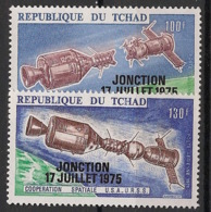Tchad - 1975 - Poste Aérienne PA N°Yv. 163 à 164 - Coopération Spatiale - Neuf Luxe ** / MNH / Postfrisch - Afrika