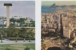 Rio De Janeiro, 2 Cartes écrite. Brésil. - Rio De Janeiro