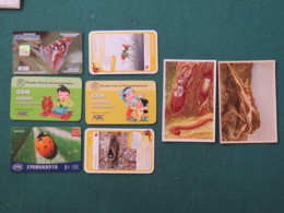 Insects 2000 - 2018 Phone Cards - Highway Cards - Korea Myanmar Greece - Insects