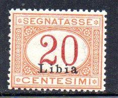 APR2237 - LIBIA 1915 ,  Segnatasse Sassone N. 3  ***  MNH   (2380A) - Libye