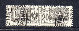 APR2241 - LIBIA 1915 ,  Pacchi Postali Sassone N. 3 Usato    (2380A) - Libye