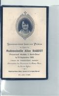 2019 - PAS DE CALAIS - 62 - SAINT OMER - Carte Mortuaire Véritable Photo - Alice Baquet - 1923 - Saint Omer