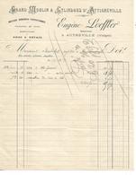 Facture 1893 / 88 AUTREVILLE / E. LOEFFER / Grand Moulin à Cylindres D'ATTIGNEVILLE, Mouture Hongroise, Farines - 1800 – 1899