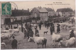 Bv - Cpa SAULIEU (Côte D'Or) - Un Coin Du Champ De Foire - Saulieu