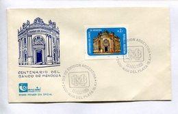 CENTENARIO DEL BANCO DE MENDOZA, BANQUE. 1988 MAR DEL PLATA ARGENTINE ENVELOPE FDC SOBRE PRIMER DIA -LILHU - Otros