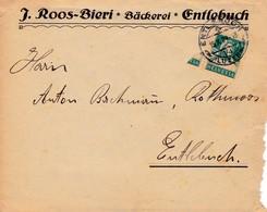 Brief  Mi: 203x J. Roos - Bieri, Bäckerei, Entlebuch - Covers & Documents