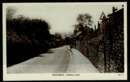Ref 1308 - Early Real Photo Postcard - Houses At Townsend - Castle Cary Somerset - England