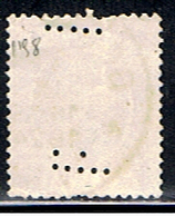 BE 1557 // YVERT 198 (PERFORÉ / PERFIN: F) // 1921-27 - Perfins