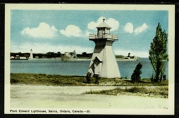 Ref 1308 - Canada Postcard - Point Edward Lighthouse - Sarnia Ontario - Lighthouses