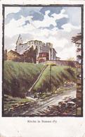 (51) - Somme-Py Kirche  Carte Dessinée Zeichnung    Carte Photo Allemande - Other Municipalities