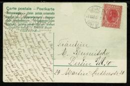 Ref 1308 - 1907 Easter Greetings Postcard - Romania 10 Bani Rate To Berlin - Clear Postmark - Romania