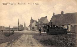 Coyghem - Tramstatie - Gare Du Tram (top Animatie, Tram Tramway , Edit Defever-Delabie, La Chasse Royale, Préaux) - Kortrijk