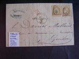 Francia Marcophilie III République. Lettres Pour L'étranger. Description. 10 Photos - 1849-1876: Classic Period