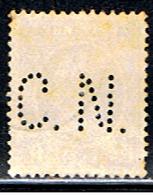 (BE 1559) BELGIQUE  // YVERT 257 (PERFORÉ / PERFIN: CN)  // 1927-28 - 1909-34