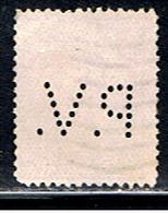 (BE 1561) BELGIQUE  // YVERT 140 (PERFORÉ / PERFIN: PV)  // 1915 - Perfins