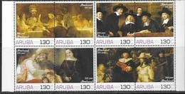 ARUBA, 2019, MNH, ART, PAINTING, REMBRANDT, PERSONALIZED STAMPS, 8v - Rembrandt
