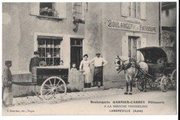 LANDREVILLE/     Boulangerie Garnier Carrey, Patisserie  à La Brioche Mousseline Attelage  Rare - France
